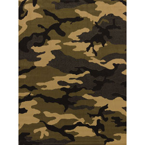 Affinity Mod Camo Green Rectangular: 7 Ft 10 In x 10 Ft 6 In Rug
