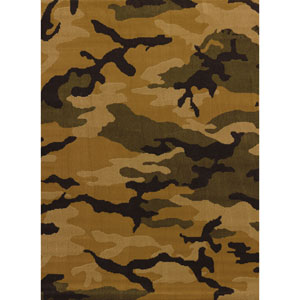 Affinity Mod Camo Brown Runner: 1 Ft 10 In x 7 Ft 2 In Rug