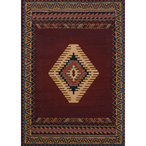 Tucson Manhattan Burgundy Rectangular: 1 Ft. 10-Inch x 3 Ft.  Rug
