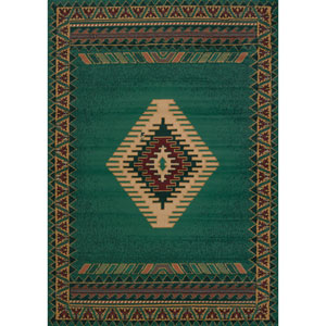 Tucson Manhattan Light Green Rectangular: 1 Ft. 11-Inch x 7 Ft. 4-Inch  Rug