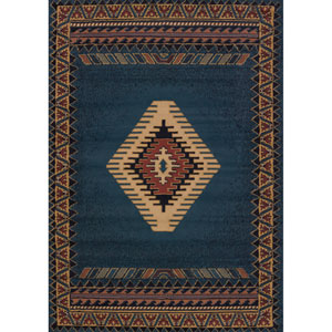 Tucson Manhattan Light Blue Rectangular: 1 Ft. 11-Inch x 7 Ft. 4-Inch Rug