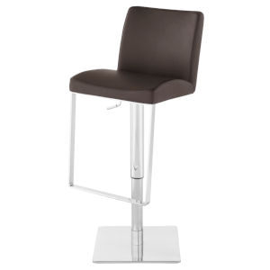 Matteo Brown and Silver Adjustable Stool