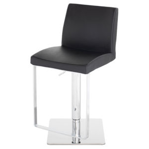 Matteo Black and Silver Adjustable Stool