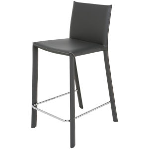 Bridget Dark Gray and Silver Counter Stool