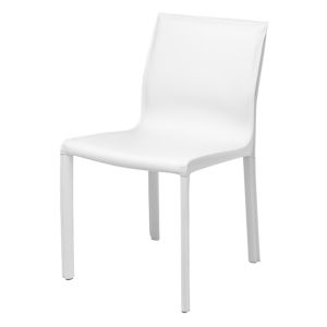 Colter Matte White Armless Dining Chair