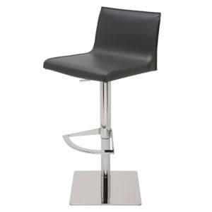 Colter Dark Gray and Silver Adjustable Stool