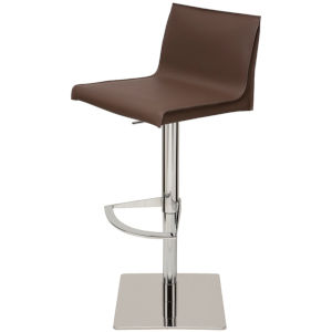 Colter Dark Brown and Silver Adjustable Stool