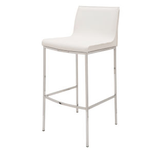 Colter Matte White Bar Stool