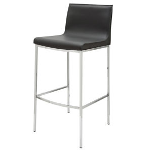 Colter Dark Gray and Silver Counter Stool