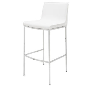 Colter Matte White Counter Stool