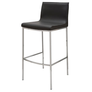 Colter Black and Silver Bar Stool