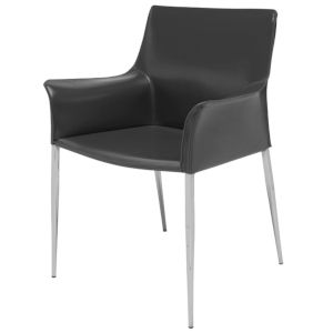 Colter Black and Silver Dining Chair