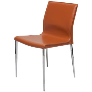 Colter Ochre and Silver Armless Dining Chair