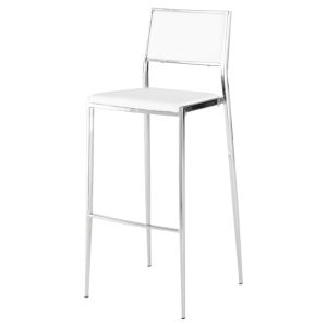 Aaron Matte White Bar Stool