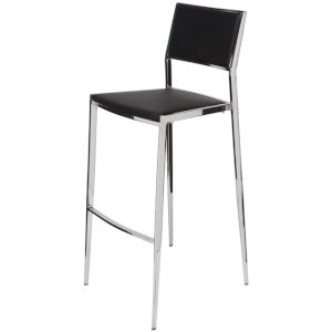 Aaron Black and Silver Counter Stool