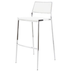 Aaron Matte White Counter Stool