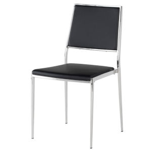 Aaron Black and Silver Dining Chair