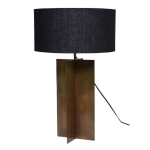 Joline Matte Black and Brass One-Light Table Lamp