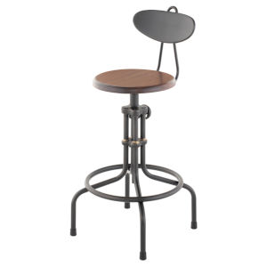 Brown and Black Adjustable Stool