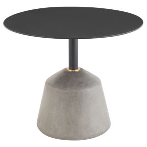 Exeter Matte Black and Gray Side Table