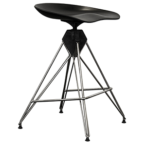 Kahn Matte Black Counter Stool