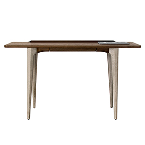 Salk Matte Seared Oak Console Table