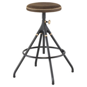 Akron Brown and Black Counter Stool