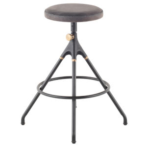 Akron Storm Black Counter Stool
