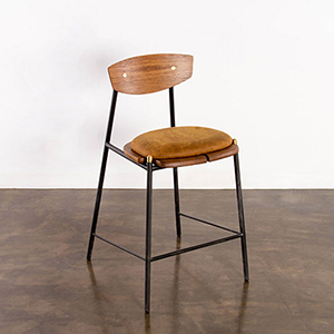 Kink Matte Umber Tan Bar Stool