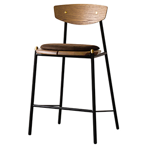Kink Matte Umber Tan Counter Stool