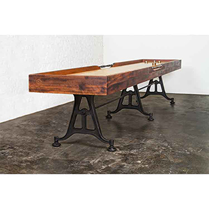 Matte Burnt Umber Shuffleboard Table
