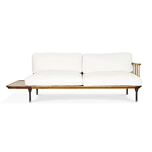 Distrikt Fumed Oak Triple Seat Sofa