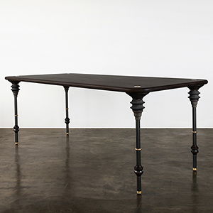 Kimbell Charred Black Dining Table