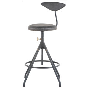 Akron Matte Black Bar Stool