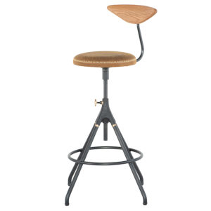 Akron Tan and Black Bar Stool