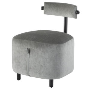 Loop Limestone and Black Dining Chair