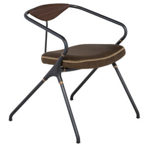 Akron Brown and Black Dining Chair