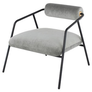 Cyrus Limestone and Black Occasional Chair