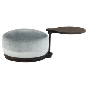 Orbit Limestone and Black Pouf