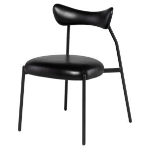 Dragonfly Matte Black Dining Chair
