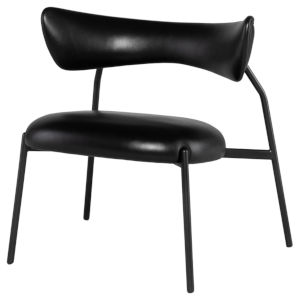 Dragonfly Matte Black Occasional Chair