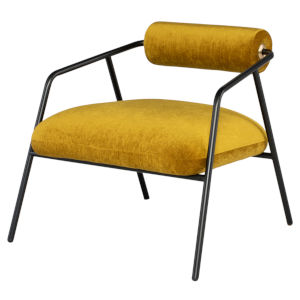 Cyrus Matte Gold Occasional Chair