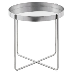 Gaultier Polished Silver Side Table