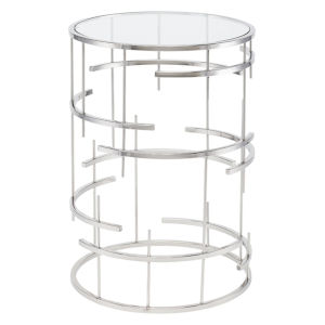 Tiffany Polished Silver Side Table