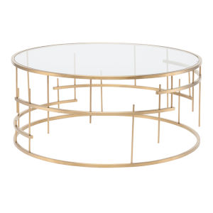 Tiffany Brushed Gold Coffee Table