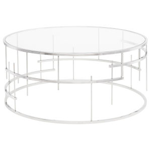Tiffany Polished Silver Coffee Table