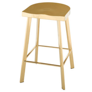 Icon Polished Gold Counter Stool