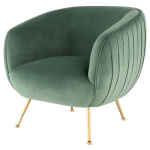 Sofia Moss and Gold Occasional Chair