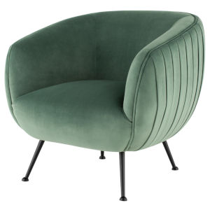 Sofia Moss and Black Occasional Chair