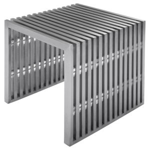Amici Jr. Brushed Silver Bench